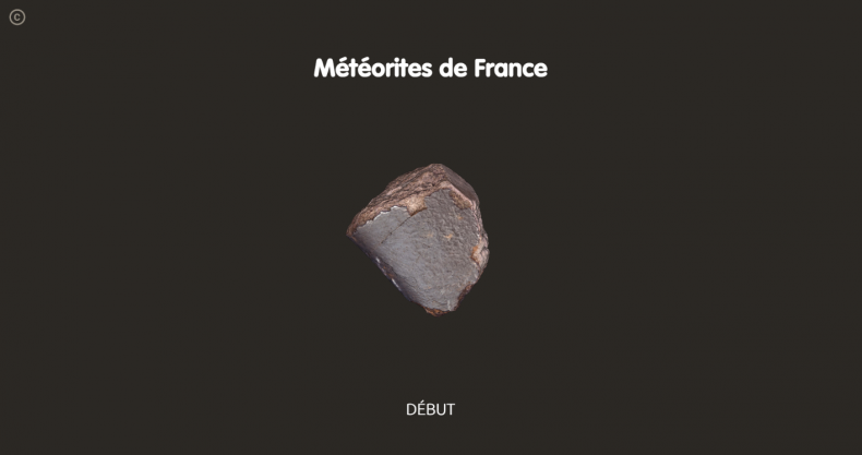 Dispositif interactif Météorites de France