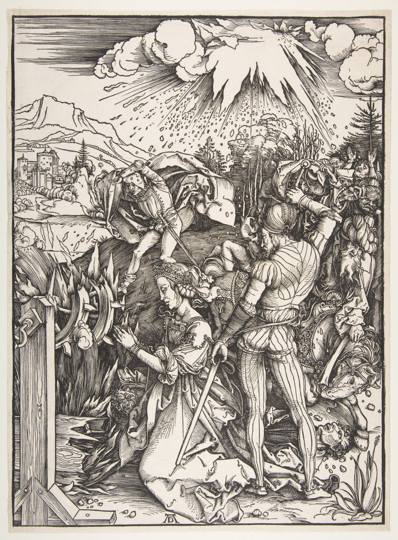 Engraving by Albrecht Dürer (1471-1528), painter and engraver of the German Renaissance